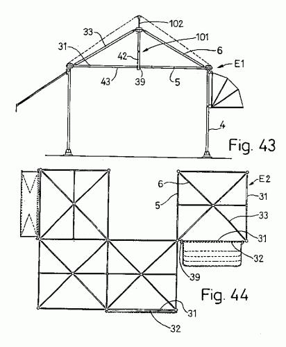 Sistema modular de estructura reticular para toldos for Sistema de poleas para toldos
