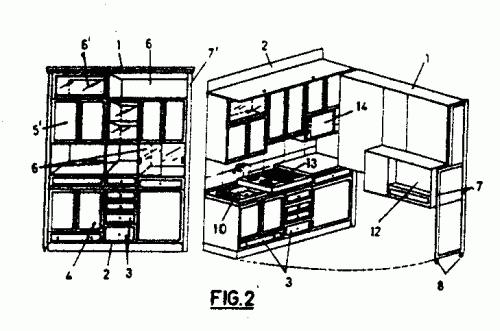Mueble de cocina con equipamiento incorporado for Partes de un mueble de cocina