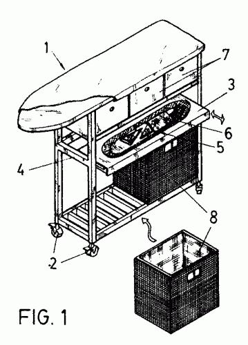 Mueble movil para ropa de plancha y planchado for Planchador de ropa