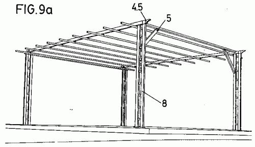 Piezas de estructura y para soporte y remate de toldos y for Estructuras para toldos