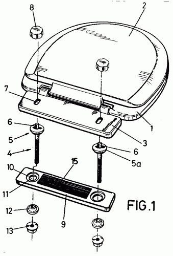 Dispositivo para montaje de una tapa de inodoro for Bisagra tapa inodoro