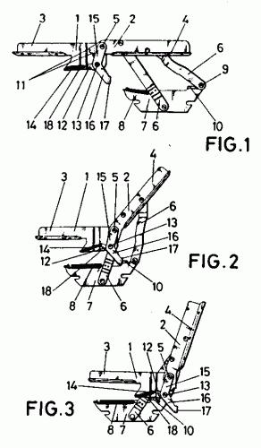 Mecanismo articulado perfeccionado para la conversion de - Mecanismos para sofas ...