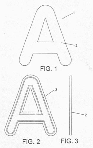 Letras, números u otros símbolos, adaptados para ser fijados…