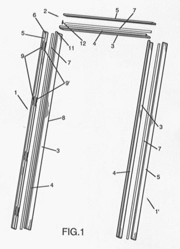 Disposicion mejorada de marcos reversibles y cabezales - Marcos de puertas de madera ...