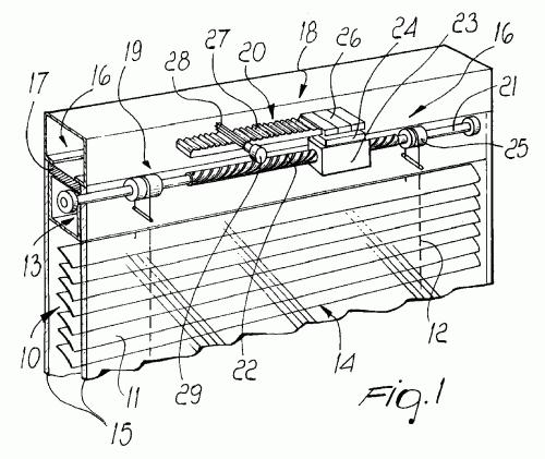 Dispositivo accionador para accionar una persiana for Partes de una persiana