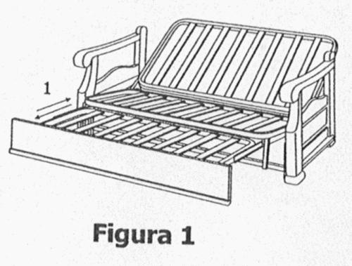 Estructura para la ampliacion de las dimensiones de un for Estructura sofa cama