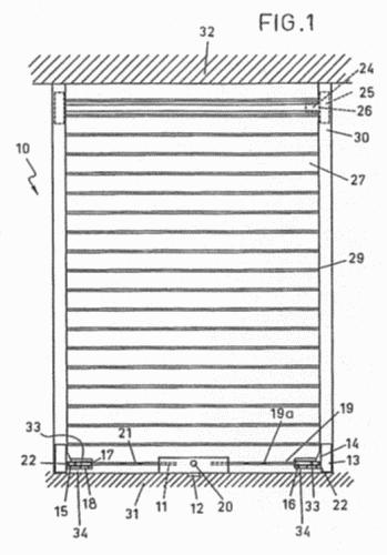 Cerradura para puerta de tipo persiana for Partes de una persiana