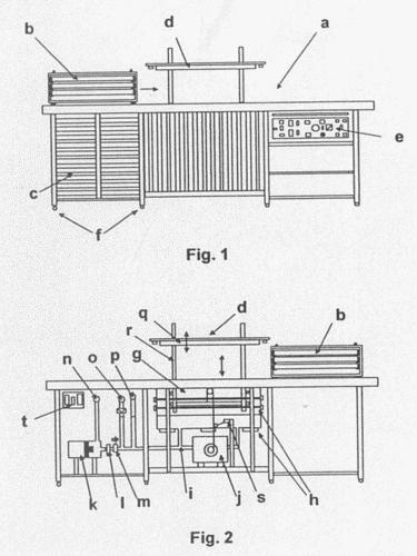 Cocina industrial semiautomatica con funciones de coccion for Estructura de una cocina industrial
