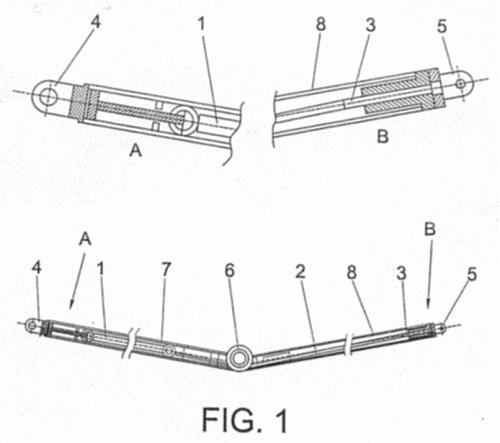 Disposicion de fijacion y tensado de un brazo articulado for Brazo articulado toldo