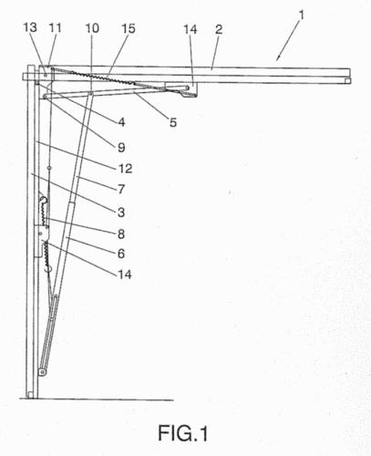 Mecanismo de potencia resultante para puertas de garaje - Mecanismo puerta garaje ...