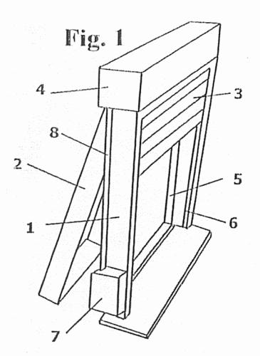 Premarco compacto para ventanas con persianas for Partes de una persiana