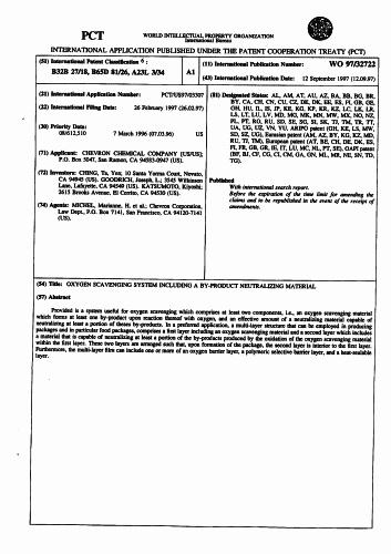 SISTEMA DE CAPTURA DE OXIGENO QUE INCLUYE UN MATERIAL NEUTRALIZADOR DE SUBPRODUCTOS.