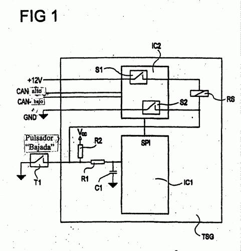 Circuito Levanta Vidrios Electricos : Circuito y procedimiento para el control de elevalunas