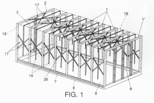 Estructura de toldo plegable para plataformas de carga for Estructura de toldo