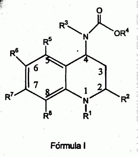 1,2,3,4-TETRAHIDROQUINOLINAS 2-SUSTITUIDAS 4-CARBOXIAMO SUSTITUIDAS.
