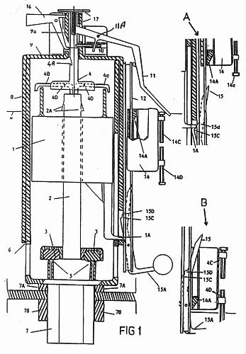 V lvulas de charnela para cisternas altas y bajas su for Valvula descarga inodoro