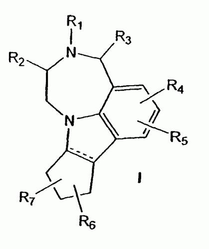 CICLOPENTAL(B)(1,4)DIAZPINO(6 ,7,1-HI)INDOLES COMO ANTAGONISTAS DE 5HT2C.