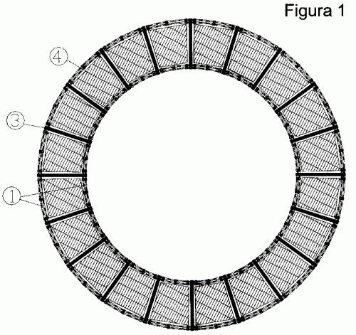 Complejo flotante circular sectorial de jaulas para cria for Jaulas flotantes para piscicultura