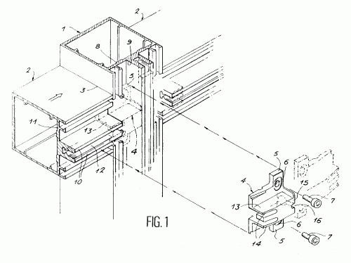 Dispositivo de estanqueidad para la union de dos perfiles for Uniones para perfiles cuadrados de aluminio