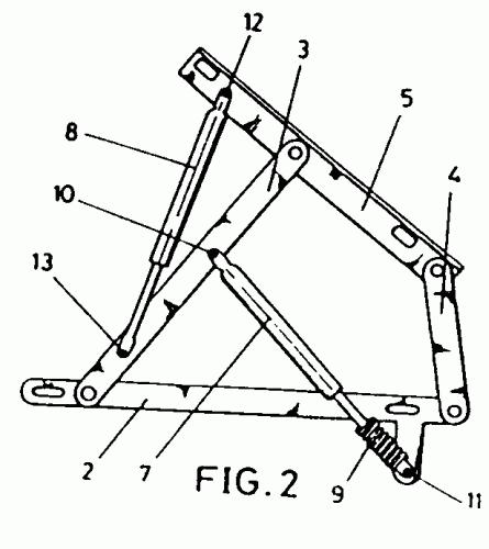 Mecanismo de apertura y cierre de canape abatible for Mecanismo cama abatible