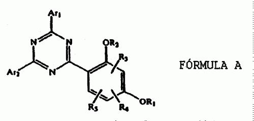 PROCEDIMIENTO PARA ELABORAR 2-(2-HIDROXI-4-ALCOXIFENIL)-6-BISARIL-1 ,3,5-TRIAZINAS.