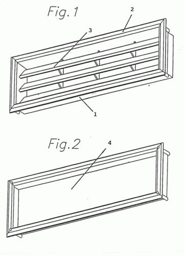 Rejilla de ventilacion para puertas o similares - Rejilla de ventilacion ...
