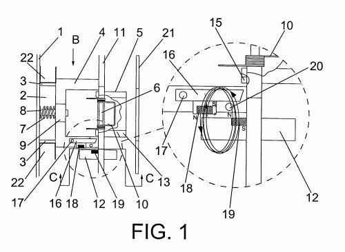 Sistema de picaporte abatible deslizante modular con - Picaporte magnetico ...