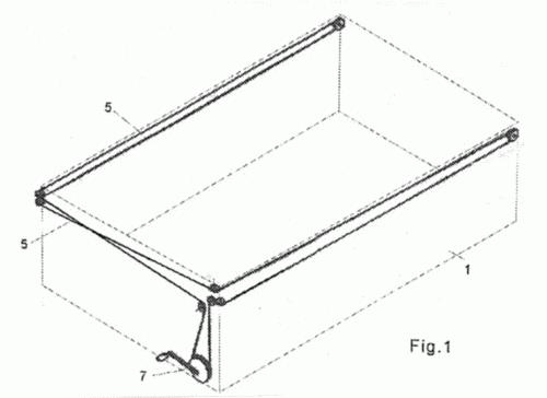 Toldo para un remolque tipo cubeta for Sistema de poleas para toldos