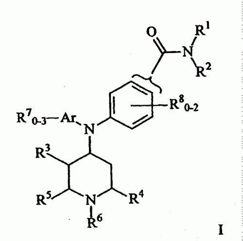(4)-ARIL(PIPERIDIN-4-IL) AMINOBENZAMIDAS QUE SE UNEN AL RECEPTOR OPIOIDE DELTA.