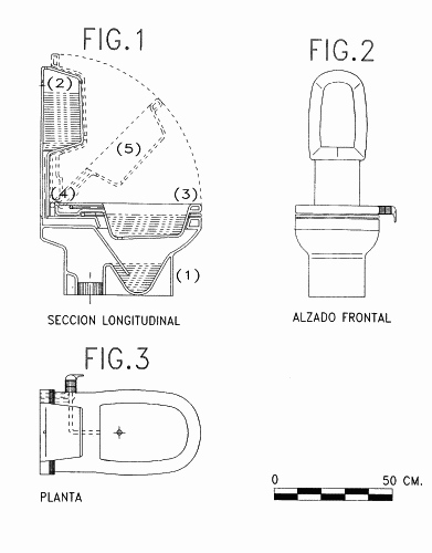 aparato sanitario con las funciones de inodoro y bide