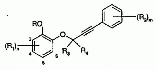 DERIVADOS DE 3-FENOXI-1-FENIL-ACETILENO Y SU USO COMO HERBICIDAS.