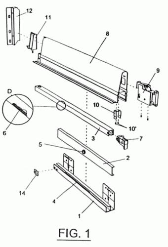 Disposicion de guia corredera y elementos asociados para - Guias de cajones ...