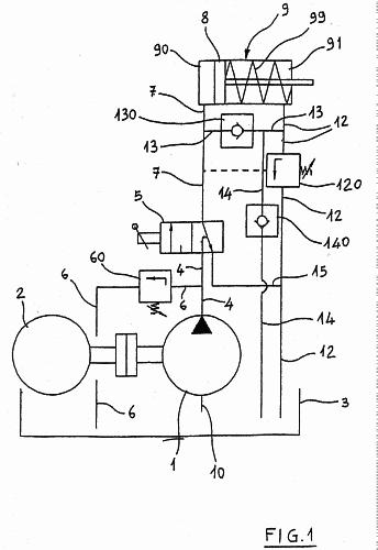 Circuito Hidraulico Simple : Maquina de serrar troncos con sistema regeneracion