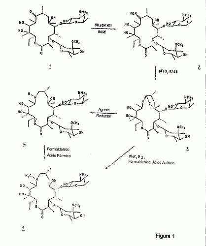 PROCESO DE ETAPA UNICA PARA LA PREPARACION DE 7,16-DEOXI-2-AZA-10-O-CLADINOSIL-12-O-DESOSAMINIL-4 ,5-DIHIDROXI-6-ETIL-3 ,5,9,11,13,15-HEXAMETILBICICLO(11.2.1)HEXADECA-1(2)-EN-ONA Y OBTENCION DE UNA FORMA NUEVA DE 9-DEOXO-9A-METIL-9A-HOMOERITROMICINA A.
