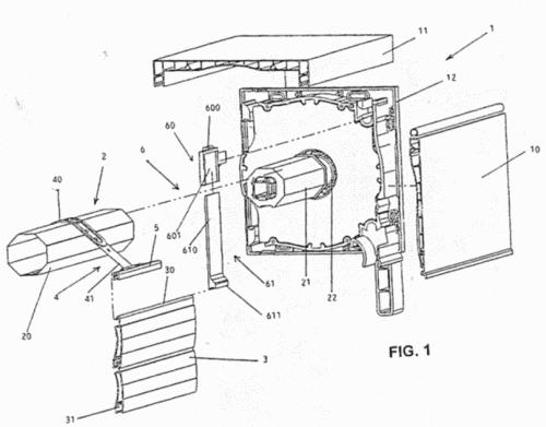 Sistema de persiana enrollable de lamas con disposicion de seguridad contra apertura forzada - Sistema persianas enrollables ...