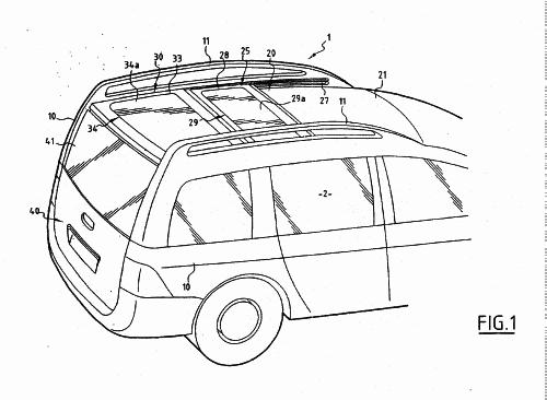 VEHICULO AUTOMOVIL DE TIPO BREAK TRANSFORMABLE EN UN VEHICULO CON ZONA DE CARGA DECUBIERTA.