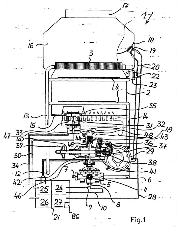 Calentador de agua de paso continuo calentado por gas - Calentador de agua de gas ...