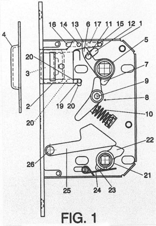 Cerradura magnetica perfeccionada - Picaporte magnetico ...
