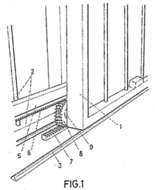 Mecanismo de transmision para puertas correderas telescopicas - Mecanismo puerta corredera ...