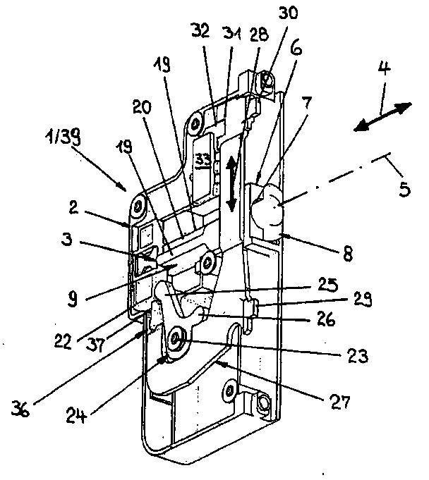 Sistema de cerradura de puerta ventana o similar con un for Puerta plegable con cerradura