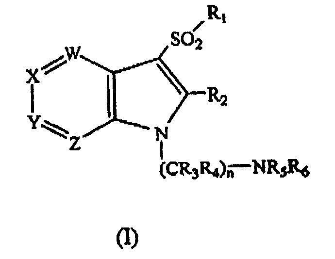 1-(AMINOALQUIL-3-SULFONILAZAINDOLES COMO LIGANDOS DE 5-HIDROXITRIPTAMINA-6.
