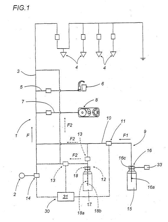Circuito Hidrico : Metodo para esterilizar e higienizar circuitos hidricos