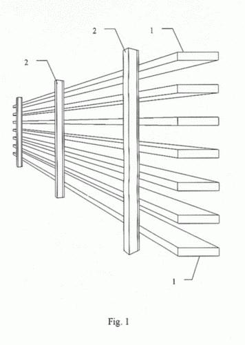 Celosia de lamas fijas con doble pared de alto rendimiento for Lamas vinilo pared