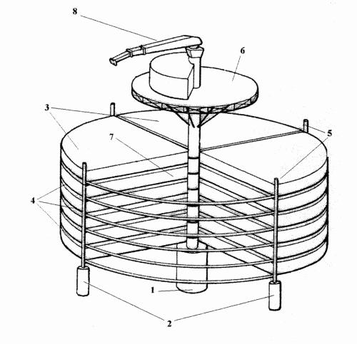 Estructura de jaulas moviles para el cultivo marino de for Jaulas flotantes para piscicultura