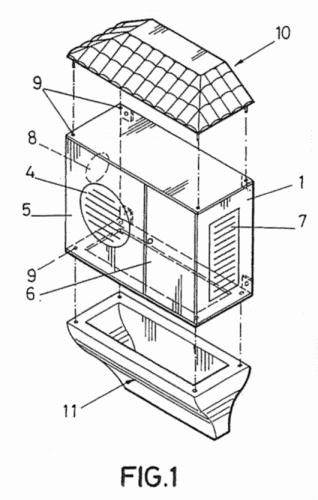 Modulo embellecedor y protector de la unidad exterior de for Aire acondicionado aparato exterior