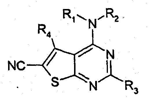 DERIVADOS DE 4-AMINOTIENO(2,3-D)PIRIMIDINA-6-CARBONITRILO COMO INHIBIDORES DE PDE7.