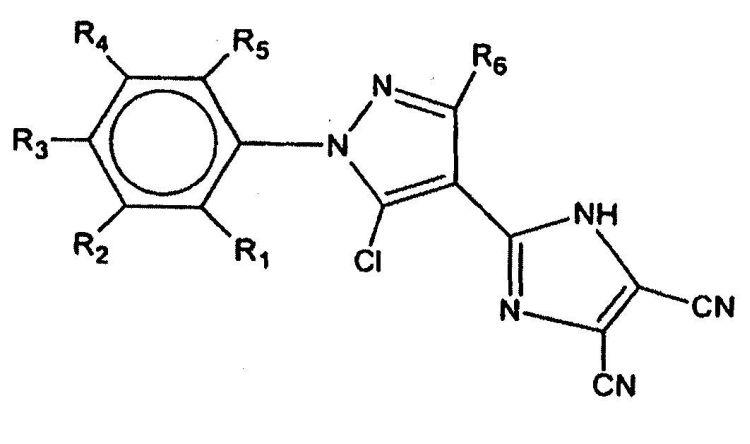 PROCEDIMIENTO DE SINTESIS DE DERIVADOS DE 5-CLORO-1-ARIL-4-(4,5-DICIANO-1H-IMIDAZOL-2-IL)-3-ALQUIL-1H-PIRAZOL.