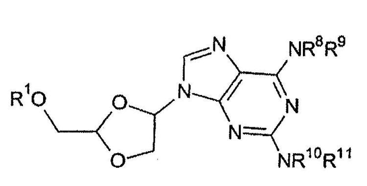 PROCESO PARA LA PREPARACION DE DERIVADOS DE (4-(2,6-DIAMINO-9H-PURIN-9-IL)-1,3-DIOXOLAN-2-IL)METANOL PROTEGIDOS EN OH.