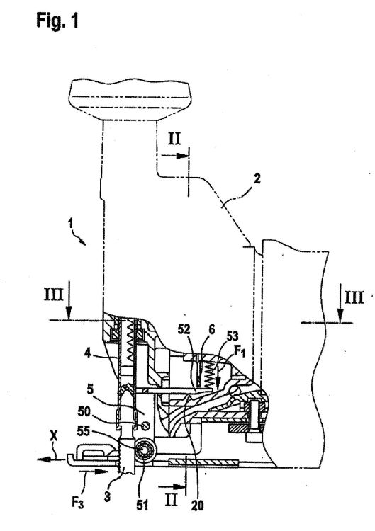 sierra de calar accionada por motor    patentados com