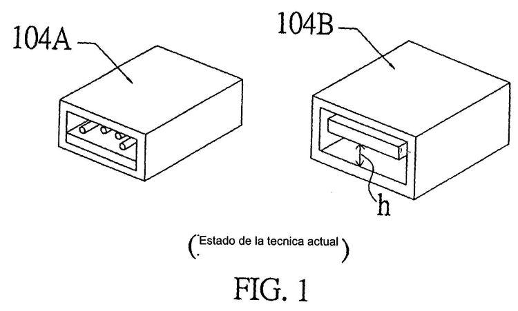 DISPOSITIVO CONECTOR DE ALTURA REDUCIDA PARA UNA INTERFAZ USB Y LA UNIDAD DE MEMORIA CORRESPONDIENTE.